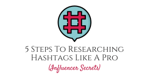Influencer Secrets Grow Your Instagram Challenge social media course feature image hashtag research blog
